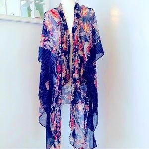 ✨Lane Bryant Patterned Kimono Saree